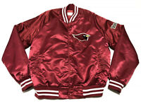 Vintage Phoenix Cardinals NFL Chalk Line Satin Jacket Red Arizona Size M 80's 90