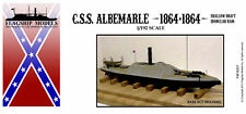 1/192 Scale CSS Albemarle; Shallow Draft Ironclad (12 inches long)