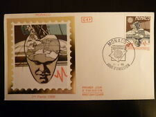 MONACO PREMIER JOUR FDC YVERT 1626    SATELLITE      2,20F      MONACO  1988