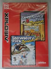 SKATEBOARD WORLD TOUR & SNOWBOARD PARK TYCOON PC GAME TWIN SET new & sealed UK !
