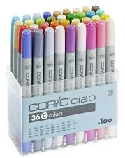 COPIC CIAO MARKER - 36C PEN SET - TWIN TIPPED - 36 UNIQUE COLOURS  *BRAND NEW*
