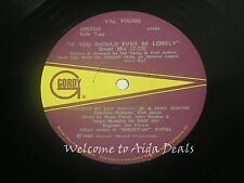 """Val Young, If you should ever be lonely LP (VG) 12"""""""