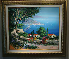 Riviera Memories, signed original oil painting by Kerry Hallum (Framed)