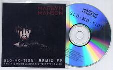 MARILYN MANSON Slo-Mo-Tion Remix EP UK 6-trk promo test CD Sandwell District