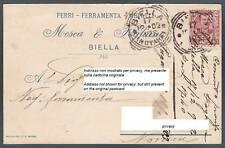 BIELLA CITTÀ 89 FERRI FERRO FERRAMENTA METALLI Cartolina COMMERCIALE