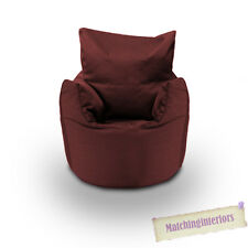 Wine Cotton Children's Kids Toddlers Filled Beanchair Bean Bag Chair with Beans