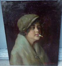 Gorgeous, Vittorio Gussoni (1893-1968) Italian painter - Oil on canvas - Smoking
