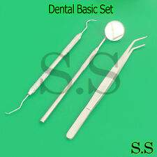 3PCS Dentist Dental Mouth Mirror and Scaler Hygiene Examination Tools PR-0063