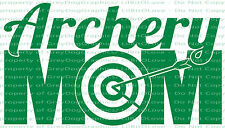 Archery Mom Vinyl Decal Sticker Target Bow and Arrow Archer Mother Mum