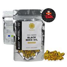 60x Original Black Seed Oil Capsules 100% Virgin Cold Pressed Nigella Sativa
