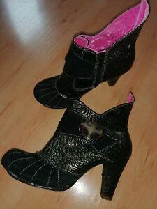 Irregular Choice Miaow Katze Pumps Schuhe High Heel Gr 40 Schwarz Bronze