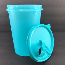 Tupperware Mega Tumbler 32 oz. Flip Top Seal Blue Aqua #321 New