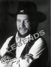"WAYLON JENNINGS  B & W  AUTOGRAPHED PHOTO COPY 8""x10""  WJ-01"