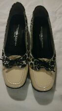 Walter Genuin Women Golf Shoes/Palma (7) Beige/Animal Print Trim. Retail $329.00
