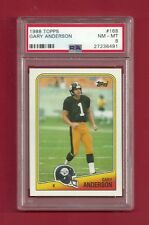1988 TOPPS #168 GARY ANDERSON PSA 8 NM-MINT POP 1 PITTSBURGH STEELERS