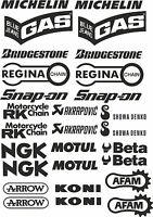 kit 28 adesivi Aufkleber STICKER sponsor tecnici moto ngk akrapovic beta cod55