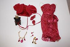 Birthstone Beauties Barbie Miss Ruby Fashion Outfit Fits Model Muse NO DOLL