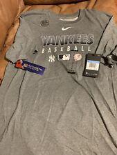 Nike New York Yankees T Shirt New Authentic Baseball Dri Fit Black Athletic L