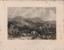 """India/Antiguo Impresiones - """"La ciudad de Nahun"""" - Himalaya-Stanfield y blanco (1840)"""