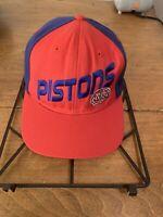 Detroit Pistons NBA Elevation Hat Cap Adjustable Snapback Red Blue