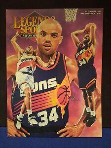 Legends Sports Memorabilia Magazine w Charles Barkley Cover w Uncut Sheet Cards