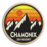 2 x 10cm Chamonix France Vinyl Stickers - Travel Sticker Laptop Luggage #23905