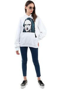 RRP €480 OFF-WHITE Unisex Hoodie Size M Coated 'MONA LISA' Made in Portugal