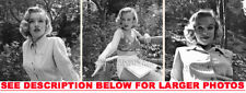 MARILYN MONROE 1950 at24 IN THE WOODS 3xRARE8x10 PHOTOS