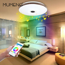 MUMENG Music LED Ceiling Lights 32W RGB Dimmable Bluetooth Speaker Home Lamp