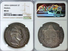 1855-A Prussia 2 Taler NGC MS61