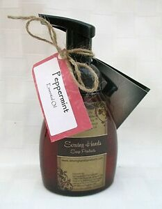 SERVING HANDS FOAMING HAND SOAP 8 oz PEPPERMINT W/ SPRING WATER NATURAL OILS
