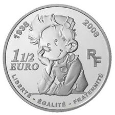 FRANCIA ESTUCHE 1.5 1 1/2 EURO 2008 SPIROU COMIC PLATA