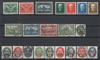 X4551/ GERMANY REICH – 1925 / 1930 USED SEMI MODERN LOT – CV 315 $
