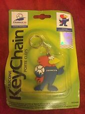 World Cup Football France 98 Mascot Keychain 1998 sealed Keyring 6cm