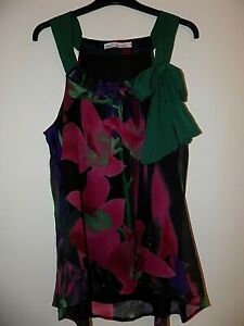Stunning NEXT LADIES Floral Floaty Sleeveless  Top, Size 18 Worn Once