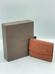 Auth Louis Vuitton Epi Canvas Kenyanbrown Radrow Coin Case NS10-0324-001 M63302