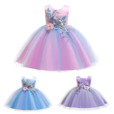 Flower Girl Princess Dress Kid Part Wedding Bridesmaid Formal Prom Tutu Dresses