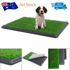 Pet Potty Trainer Grass Mat Dog Puppy Training Pee Patch Pad Tray Turf Indoor