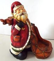 NEW SANTA CLAUS With SLEIGH Ceramic CHRISTMAS SCULPTURE