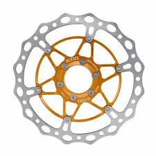 A2Z Floating Disc Brake Rotor 180mm Center Lock Bicycle Brake Disc Orange