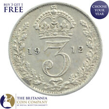 1912 KING GEORGE V SILVER THREEPENCE 3d - YEAR OF THE TITANIC