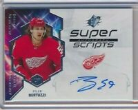2019-20 SPX Super Scripts AUTOGRAPH AUTO SS-TB Tyler Bertuzzi Detroit Red Wings