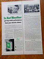 1952 Williams Shaving Ad  In Hot Weather williams Lectric Shave