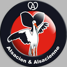 Sticker / autocollant : Alsacien & Alsacienne - 15cm