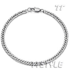 Top Quality TT Stainless Steel Curb Chain Bracelet 3 Color Width 4mm-8mm (CB171)