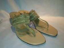 Tommy Bahama Green Sandals/Slides US 9 T-Strap Made in Spain