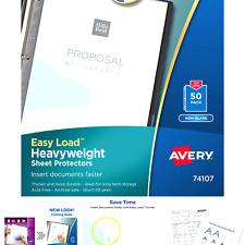 Avery Heavyweight Non Glare Sheet Protectors 85 X 11 Acid Free Archival