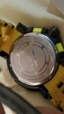 Invicta Watches for Men or Women, Shows sign of Being worn,Spider/Yellow strap