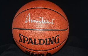 JERRY WEST AUTOGRAPHED SPALDING I/O NBA ZiO BASKETBALL + BALLQUBE PSA/DNA