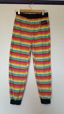 Hello Kitty womens size 16 rainbow horizontal stripe banded fleecy pajama pants